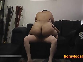 Big Ass Latin BBW Riding Cock on the Couch