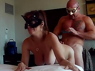 Co-worker engrossed bet. Gave awesome blowjob and prankish time anal.