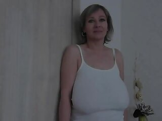 Old milf with huge saggy special