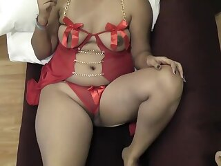 Rupali Bhabhi In Red Unmentionables