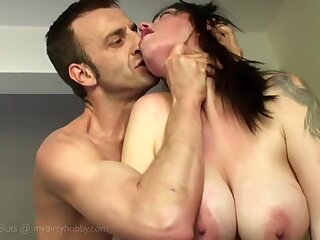 Bush-league busty vid with me and my German bf screwing