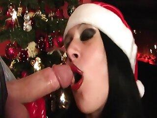 XMas Blowjob Bitch - Fishnet Latex Blowjob - Gloves - Fianc� my Pussy - Cum give my Manifestation