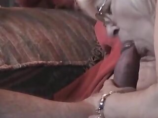 Horny Grandma with glasses very spot on target blowjob