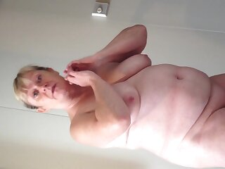 Bbw become man cruising added to showing her big breasts added to fat belly