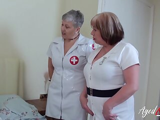 British mature ladies enjoying hardcore trilogy sexual intercourse with sweltering to hand man