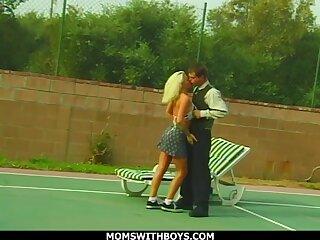 Sporty Blonde Mom Fucks Young Tennis Dear boy