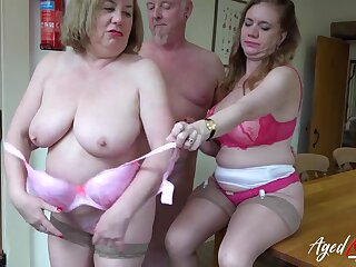 Horny mature ladies got their satisfaction and hard copulation