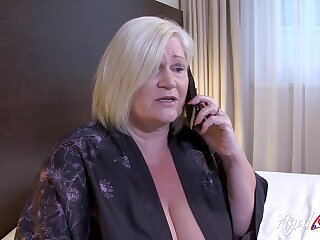 British mature ordered full service with torrid guy newcomer disabuse of hotel room service