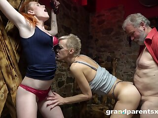 Strange threesome allow can't be better for sexy blonde milf