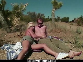 MILF Blonde Alfresco Desert Sex With fr