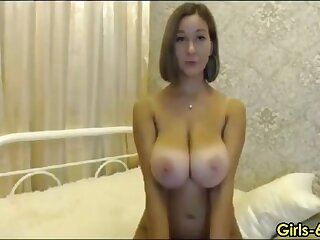 Busty milf loves stripping plus acquiring unadorned on webcam agree to