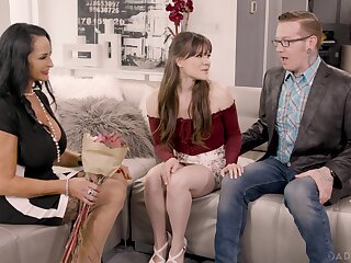 Lucky older guy sticks his dick close to both Rita Daniels and Alison Rey