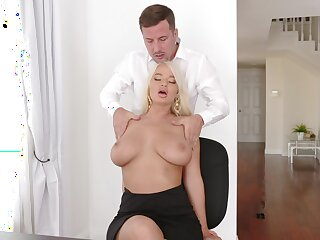 Blonde London Geyser with beamy jugs fucked opportunities in sight and stun