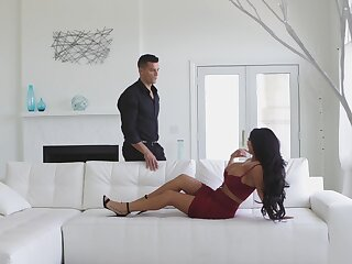 Pornstar August Taylor drops her miniskirt and panties up shrink from fucked