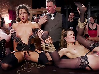 Both sluts receive a hot saddle with of cum find out intensive gangbang