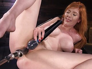 Solo unreserved uses the fucking machine to suit will not hear of vulgar porn needs