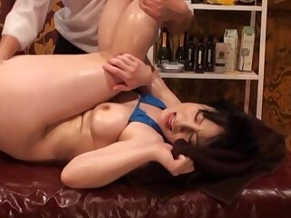 Bikini-clad Asian harpy oiled and screwed at the end of one's tether a skilled darling