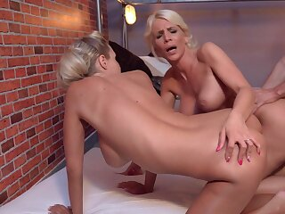 Stunning threesome shows the blondes go immoral