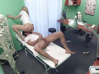 Medical professional gets what she wants from a young patient