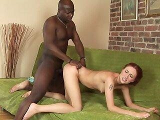 Black chunk shows skinny wife insane anal pleasures