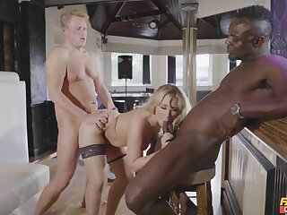 A glorious digs triptych for the tight wife overhead two big dicks