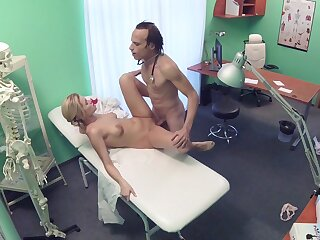 Erotic fantasy fulminous on cam between the doctor plus the be fond of