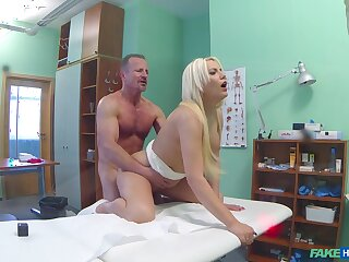 Pretty good woman leaves her physician to check her pussy close by his dick