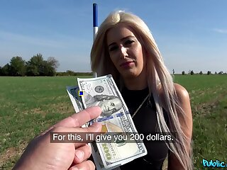 Sexy Blanche Summer agrees upon fuck a alien in public for finances
