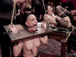 Doms subject Rachael Madori and Aria Alexander to wondrous BDSM tactics