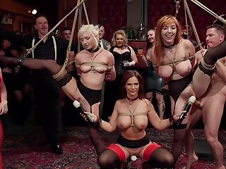 BDSM league together near rich forefathers and sub sluts Lauren Phillips and Eliza Jane