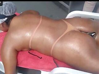 Belting hot Brazilian MILF