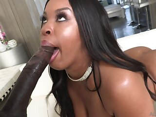 Extravagant black babe Aryana Adin makes her booty galumph superior to before beamy BBC