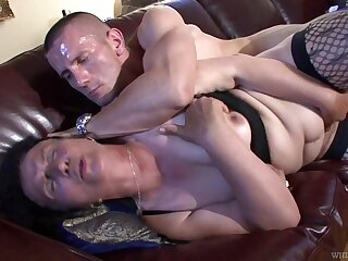 Ugly mature gripe fucks unified that's younger than their way and she's so nasty