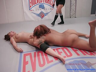 The Legs on this Ebony Goddess Destroys this Girl's Ass - KINK