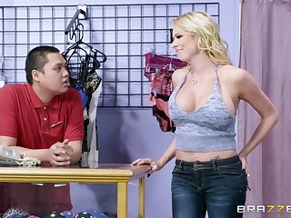 Beautiful blonde Briana Banks is never reserved when it comes to hot sex