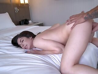 Lovely lady's maid drilled by porn agent during audition in bedroom