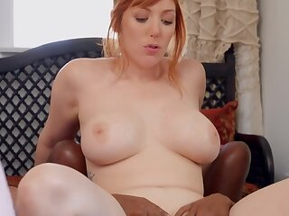 Interracial lesbian portray with coloured babe and busty blonde