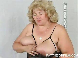 Older Blonde Fatty Grace